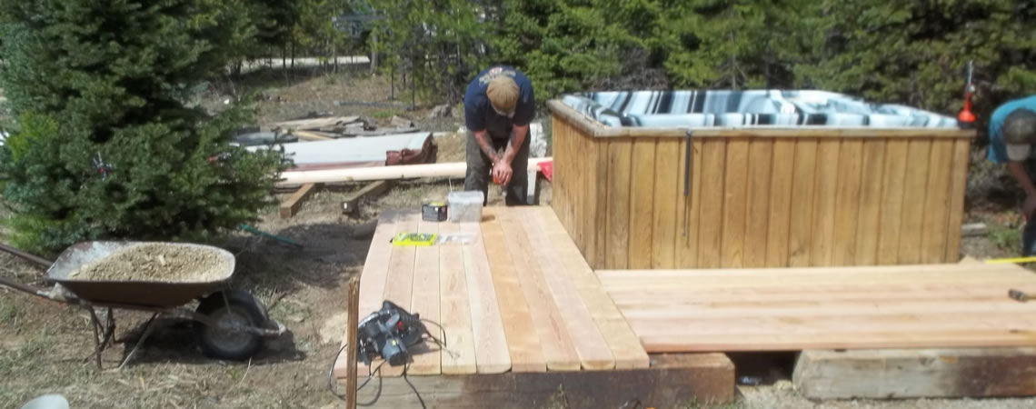 deck your to tub instructions a plan home build hot top and on ideas install house of how